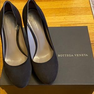 Bottega Veneta Brown Eclipse Matt Suede Platform